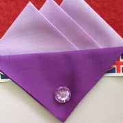 Light and Dark Purple Hankie With Dark Purple Flap and Pin
